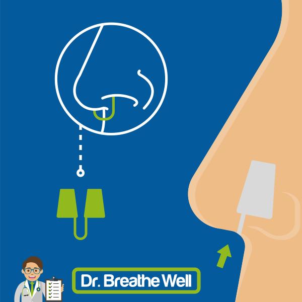 dr breathe well anti snurk neusspreider zacht in neus grafisch