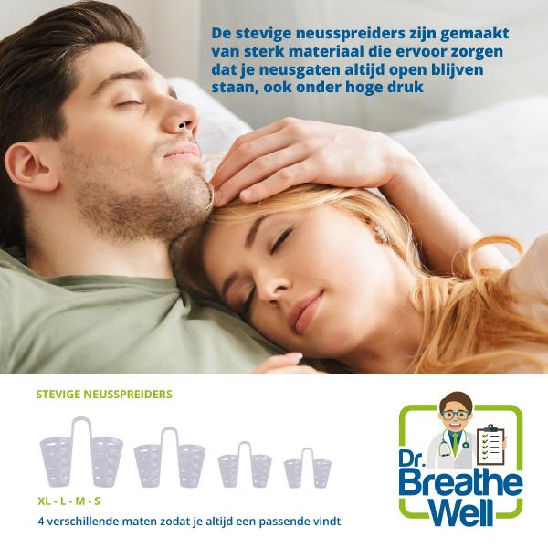 dr breathe well stevige neusspreiders man in gebruik
