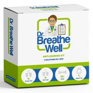 dr breathe well anti snurk pakket verpakking voorkant witte achtergrond