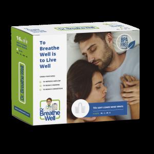 dr. breathe well zachte buisjes verpakking geen achtergrond met schaduw